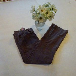 Izod size 8 Petite Brown Stretch Pants